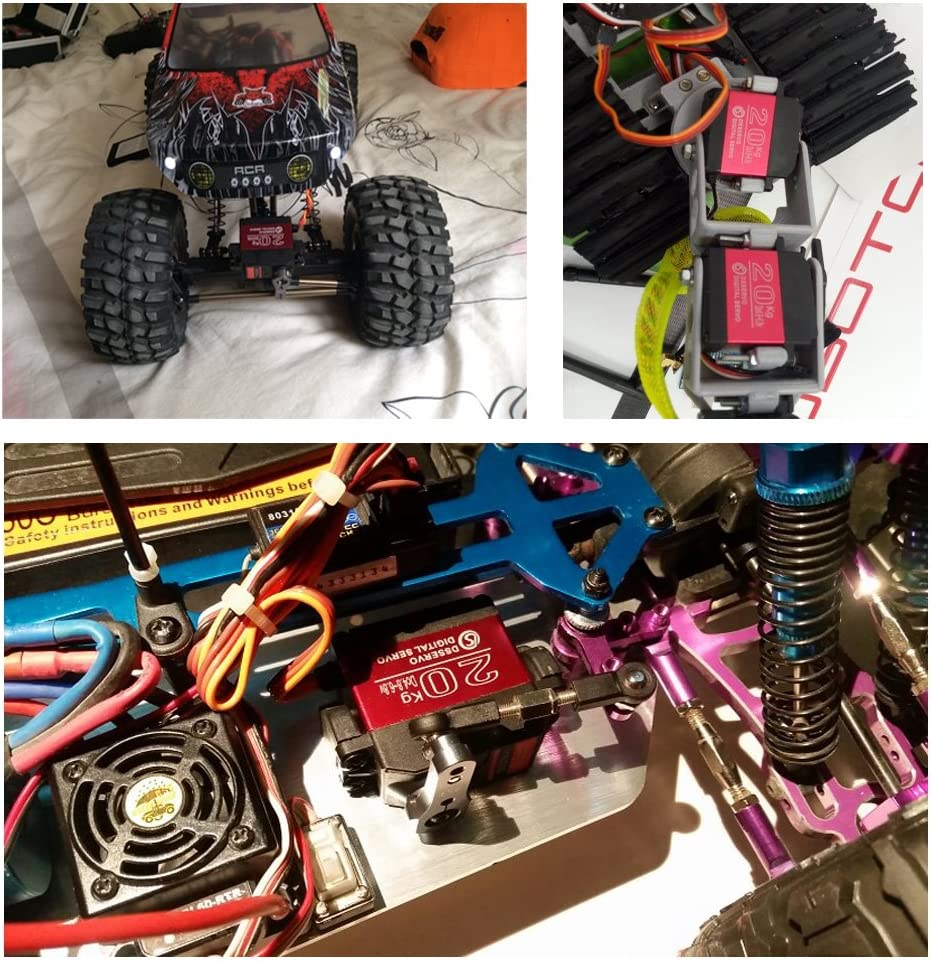Pack of 2 DS3218 Digital RC Servo Motor 20KG High Torque Full Metal Gear Waterproof for Baja Cars Robot DIY 270/°