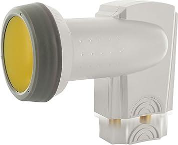 SCHWAIGER -333- LNB doble con protección solar | 2 vías | digital | 2 participantes | tapa de LNB extremadamente resistente al calor | uso con antena ...