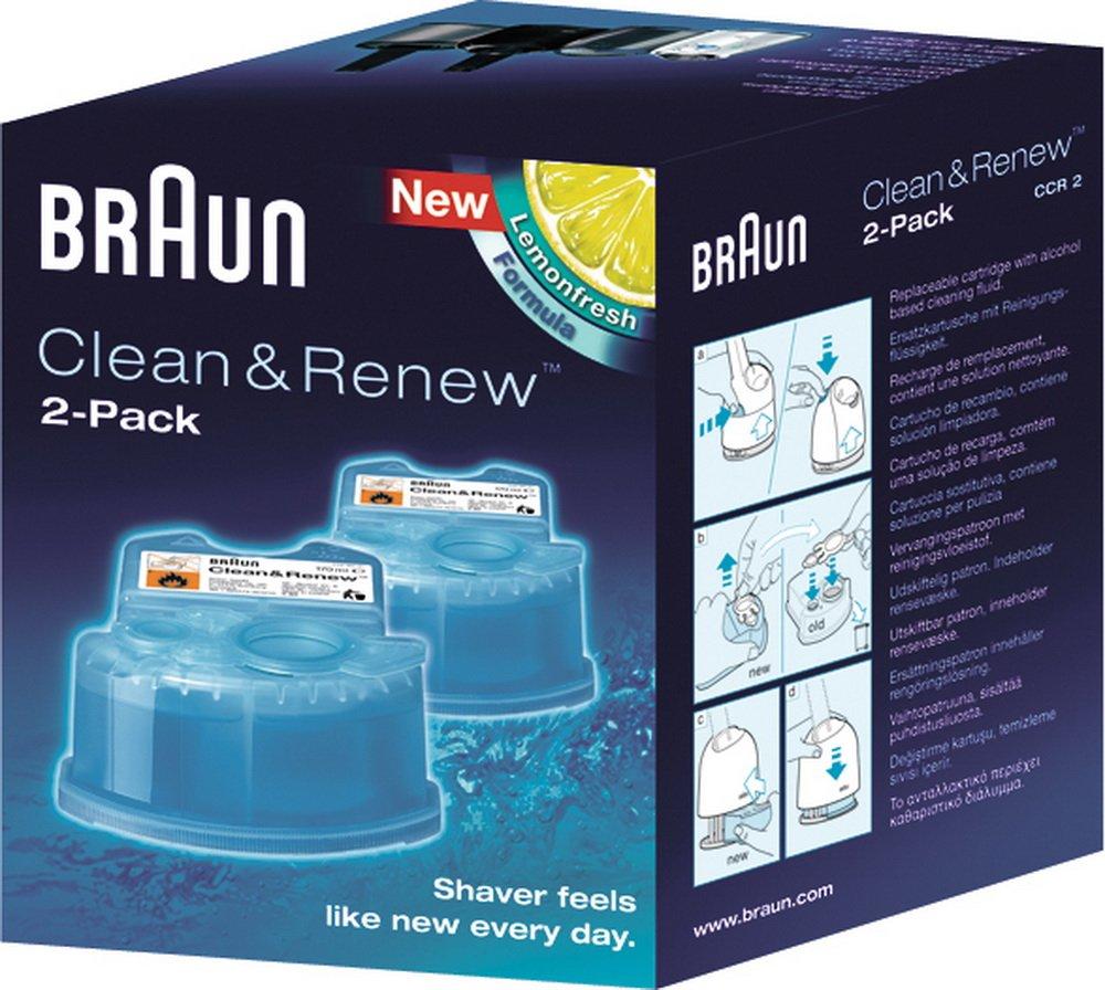 CCR Clean/&Charge BRAUN Reinigungskartuschen CCR2 Clean/&Renew Packung mit 2 St