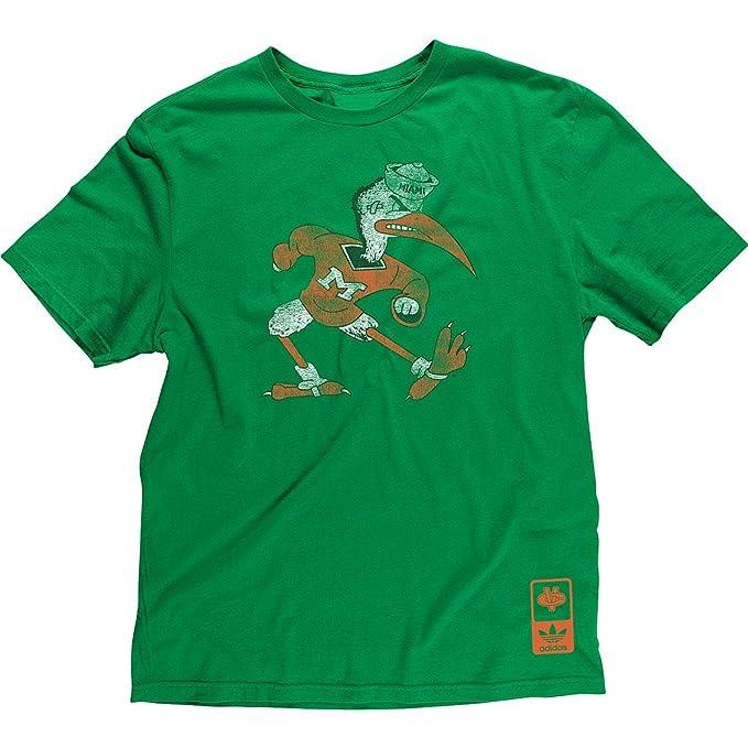 Miami Hurricanes Adidas Vintage Throwback Mascot Slim Fit T Shirt (Small) 96b115487d42