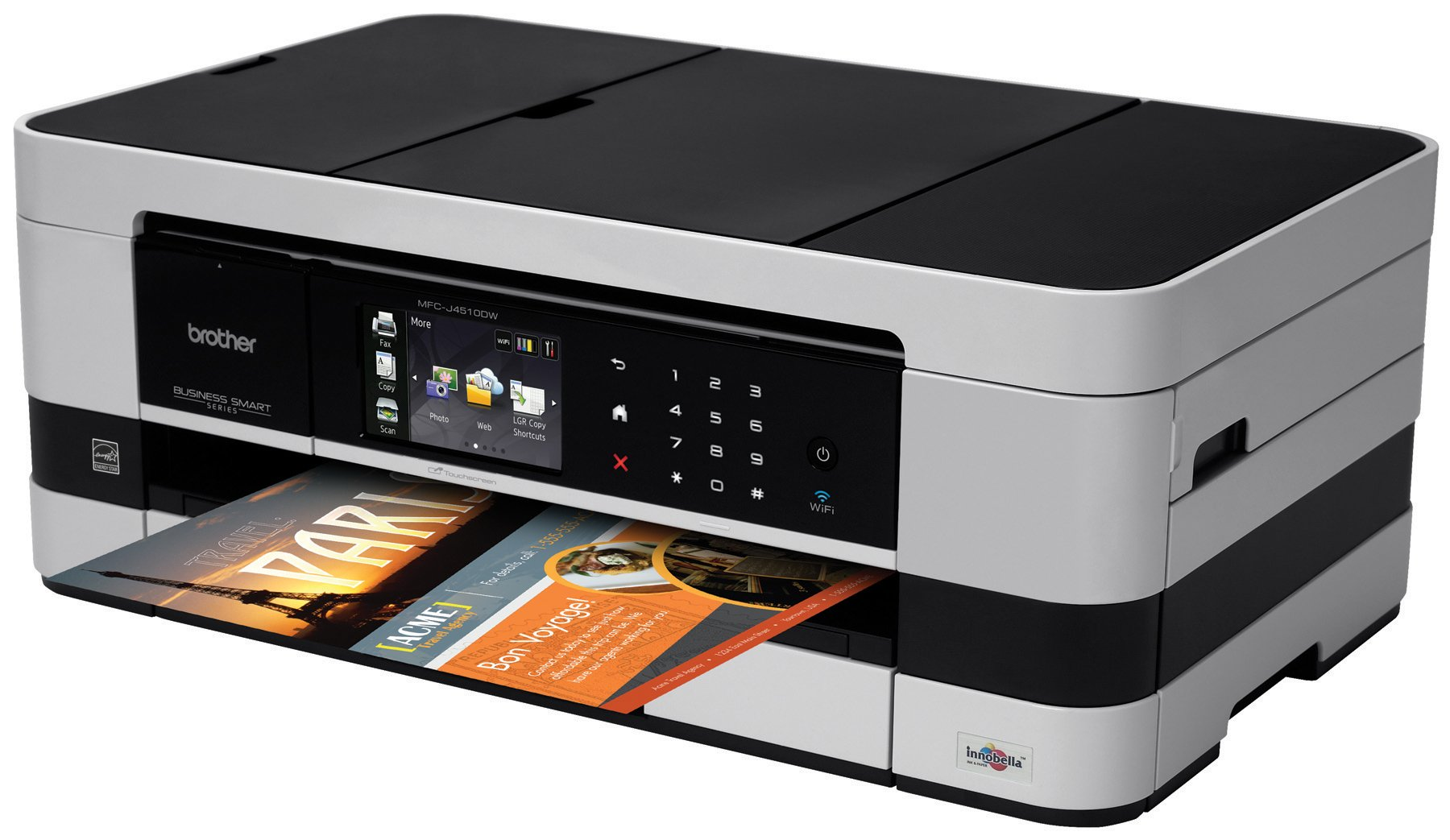 Brother Printer MFCJ4510DW Wireless Color Photo Printer with Scanner, Copier and Fax, Amazon Dash Replenishment Enabled by Brother (Image #2)