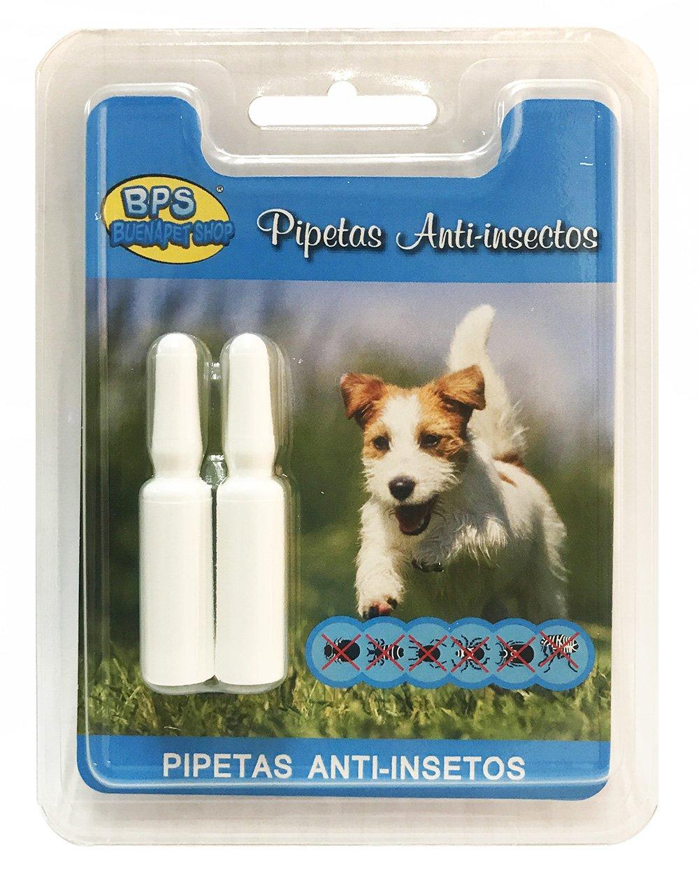 BPS 2Pcs Pipetas Repelentes Naturales para Perros Gatos Mascotas Anti Ácaros Pulgas Garrapatas Insectos Voladores Parásitos y Parasital (Pipetas Gato) ...