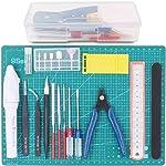 Rustark 19Pcs Modeler Basic Tools Craft Set Hobby Building Tools Kit
