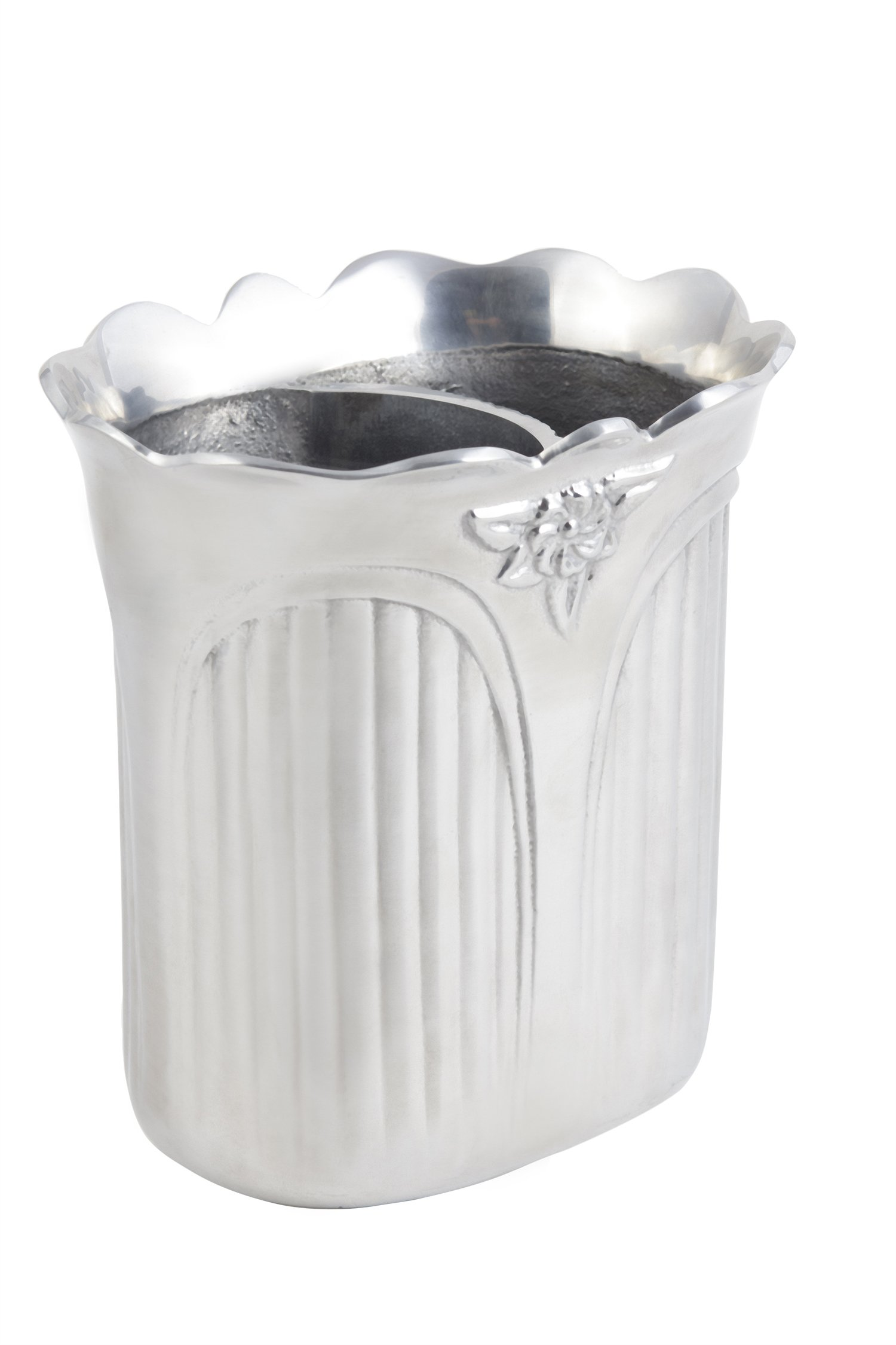 Bon Chef 4027PG Aluminum/Pewter Glo Victorian Wine Cooler, 7-1/4'' Length x 5-5/8'' Width x 8'' Height