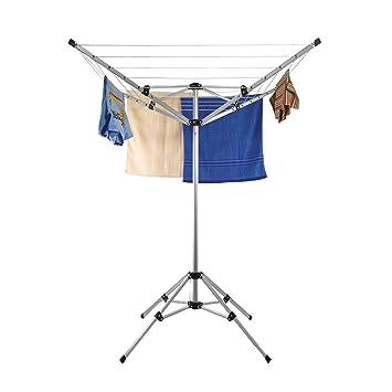 Stand Wäschespinne mit Standfuß für Wäsche - Aluminium Wäscheständer ...