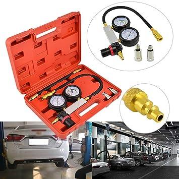 WerkzeugeWie Druckverlustpr/üfer Druckverlust Tester Benzin Diesel Motor Zylinderdruck Pr/üfer