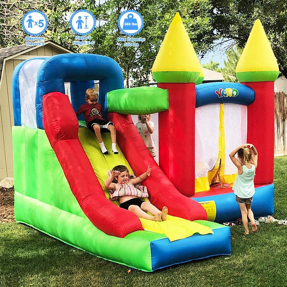 Amazon.com: YARD trampolín con soplador hinchable ...