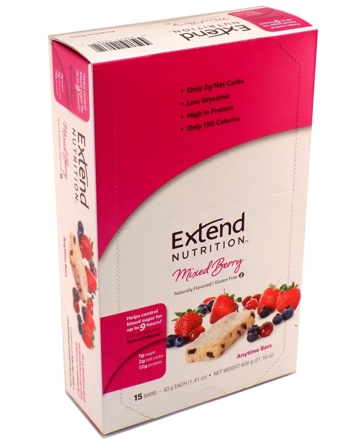 Extend Bar, Mixed Berry, 1.41 oz. Bars (Pack of 15) by Extend