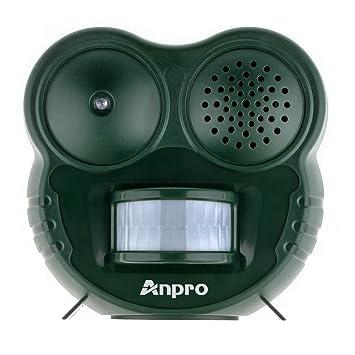 Anpro Repelentes Ahuyentadores Animal a Pilas Con Movimiento Activo la Luz LED y Ultrasonido para Los