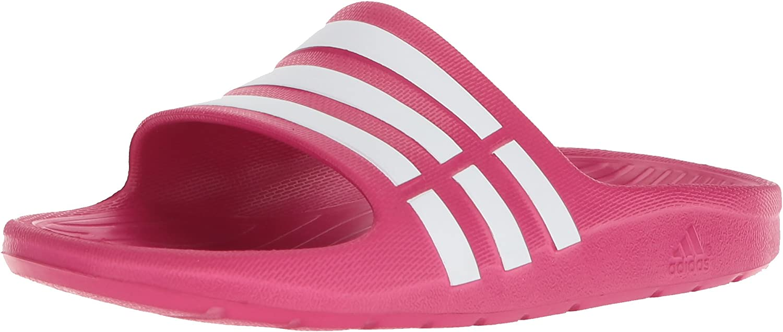 Adidas Duramo Kids Slides Boys or Girls Size 11-6 Sandals Black White Or Pink
