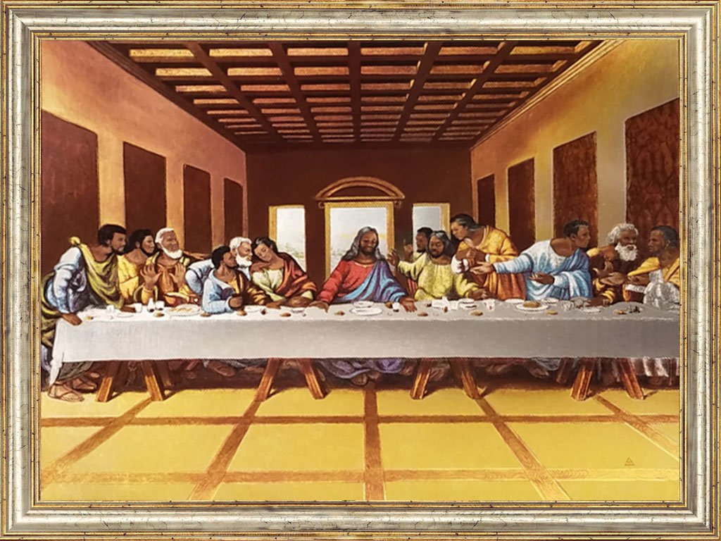 Amazoncom Black Jesus African American Black Art Black Last Supper