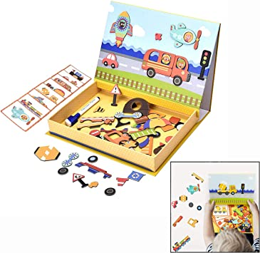 LHKJ Puzzles Rompecabezas magnéticos de Madera para Niños Niña de 3 años: Amazon.es: Electrónica