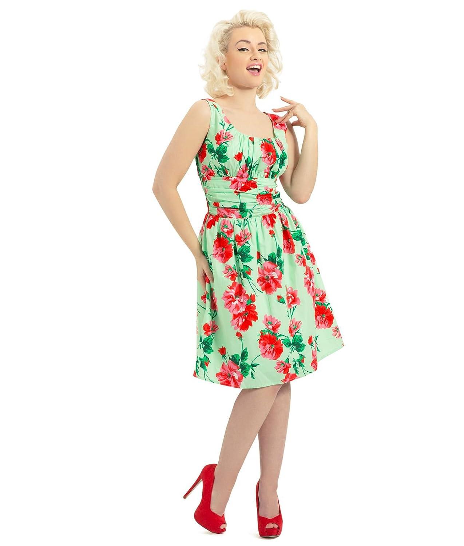 Tiger Milly Damen Kleid Voodoo Vixen 50er Jahre Blumenmuster Sommerkleid