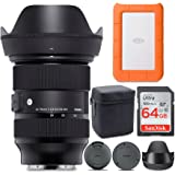 Sigma 24-70mm f/2.8 DG DN Art Zoom Full Frame Sony E-Mount Lens with LaCie Rugged Mini 1TB Hard Drive and 64GB SD Card Bundle