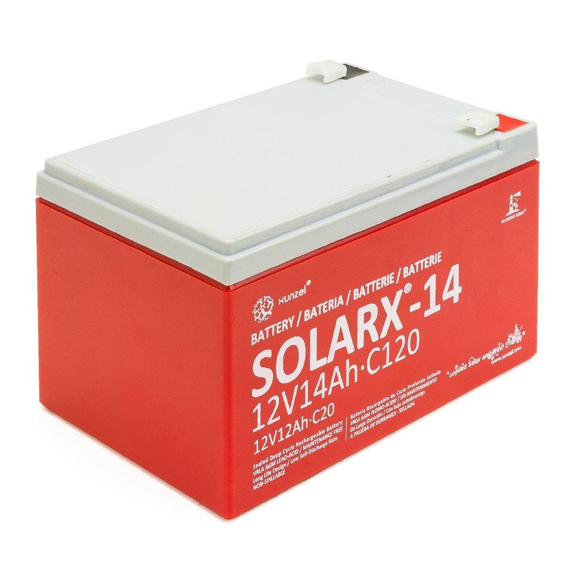 Xunzel Deep Cycle baterí a solar 12 V, 1 pieza, solarx de 14 1pieza SOLARX-14