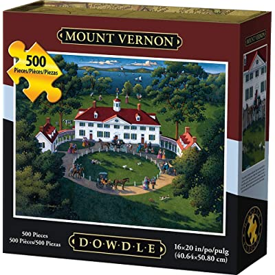 Dowdle Jigsaw Puzzle - Mount Vernon - 500 Piece: Toys & Games