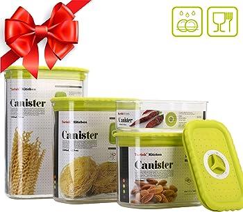 Tartek Kitchen Airtight Stackable Food Storage Containers Set