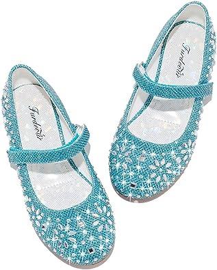 Kid Girl Child Glitter Flower Dress Shoe Princess Mary Jane Dance Party Flat