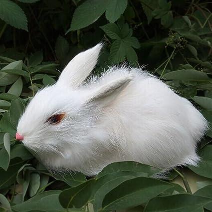 amazon com wukong realistic bunny rabbit animal toys toys games