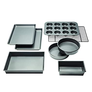 Chicago Metallic 5229030 Professional Non-Stick 8-Piece Bakeware Set, Silver