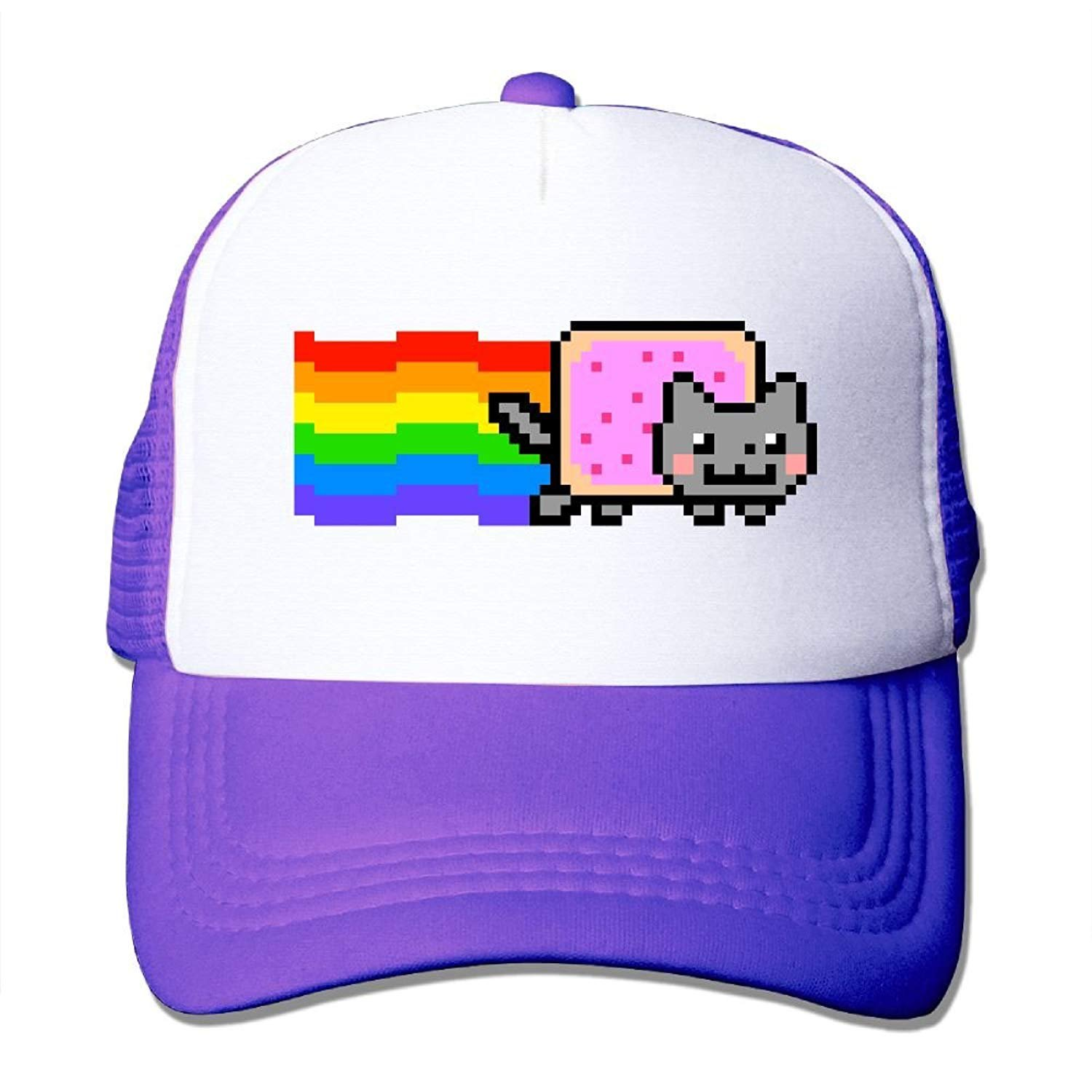 xcvnxtgndx Nyan Cat Rainbow PNG Mesh Trucker Caps/Hats Adjustable ...