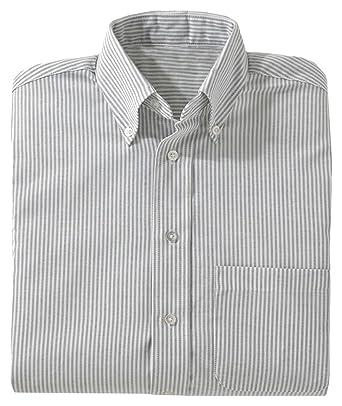 f9268670e Ed Garments Men's Big And Tall Short Sleeve Oxford Shirt, GREY STRIPE,  Medium