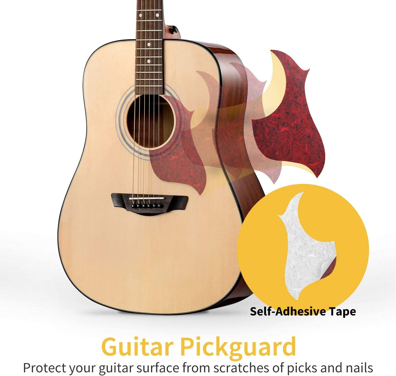 Bass DAD Electric D-A-D CHORDS Acoustic Solid Brass Guitar Pick