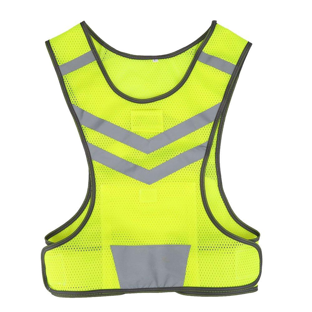 Filfeel Warnweste Reflektierende Sicherheitsweste Hohe Sichtbarkeit einstellbar f/ür Outdoor Sportarten Radfahren Laufen Wandern Motorrad Fahrrad