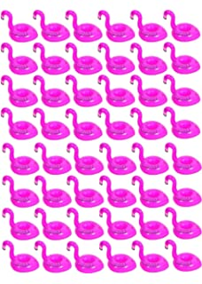 20ad9c1c 48 pcs Pink Flamingo Drink Pool Float,Flamingo Inflatable Drink Coasters  Holder Floating Can Coke