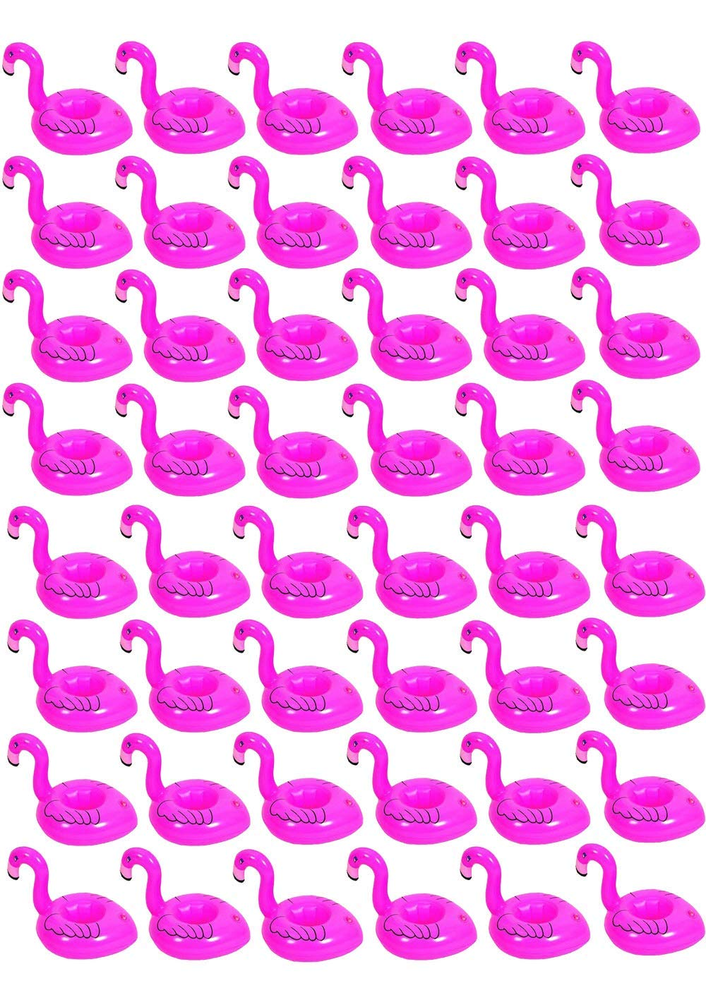 48 pcs Pink Flamingo Drink Pool Float,Flamingo Inflatable Drink Coasters Holder Floating Can Coke Cup Stand for Pool Swim Party, Cup Holders for Bachelorette Party and Birthday Party and Anniversaries by Yourss