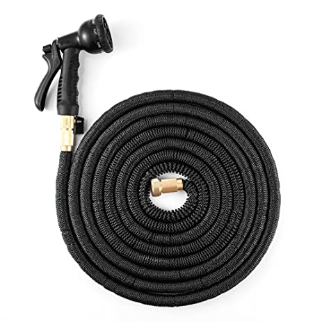 Captivating Garden Hose 100 Feet Expandable Water Hose With 8 Pattern Spray Nozzle And  High Pressure Light
