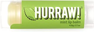 product image for Hurraw! Mint Lip Balm, 4.8g/.17oz: Organic, Certified Vegan, Cruelty and Gluten Free. Non-GMO, 100% Natural Ingredients. Bee, Shea, Soy and Palm Free. Made in USA