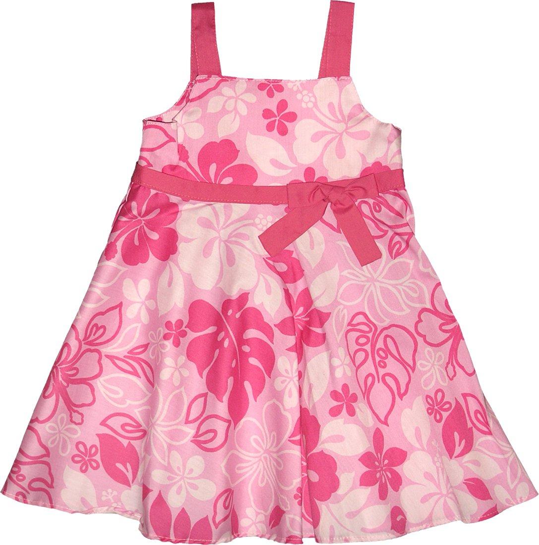 Monstera Garden Girl's Empire Bow Flare Sundress in Soft Pink - 5
