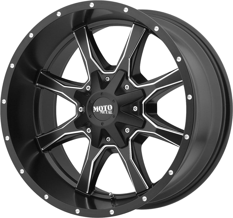 MOTO METAL MO970 18x10 5X5//5.5-24 Black Milled Qty of 1