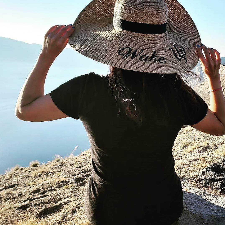Embroidered Sun Floppy Hat