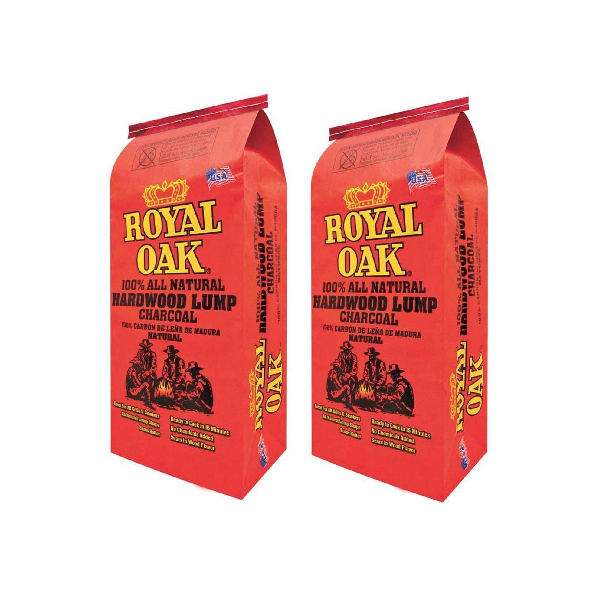 Royal Oak BBQ All Natural Premium 8 Pound Bag Lump Charcoal Starter (2 Pack) by Royal Oak