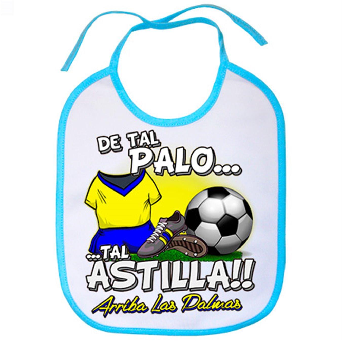 Babero De tal palo tal astilla Las Palmas fútbol - Celeste: Amazon.es: Bebé