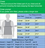 Neleus Men's 3 Pack Compression Shirts Athletic Dry Fit Tank Top,Grey,Navy Blue,Red,M,EUR L