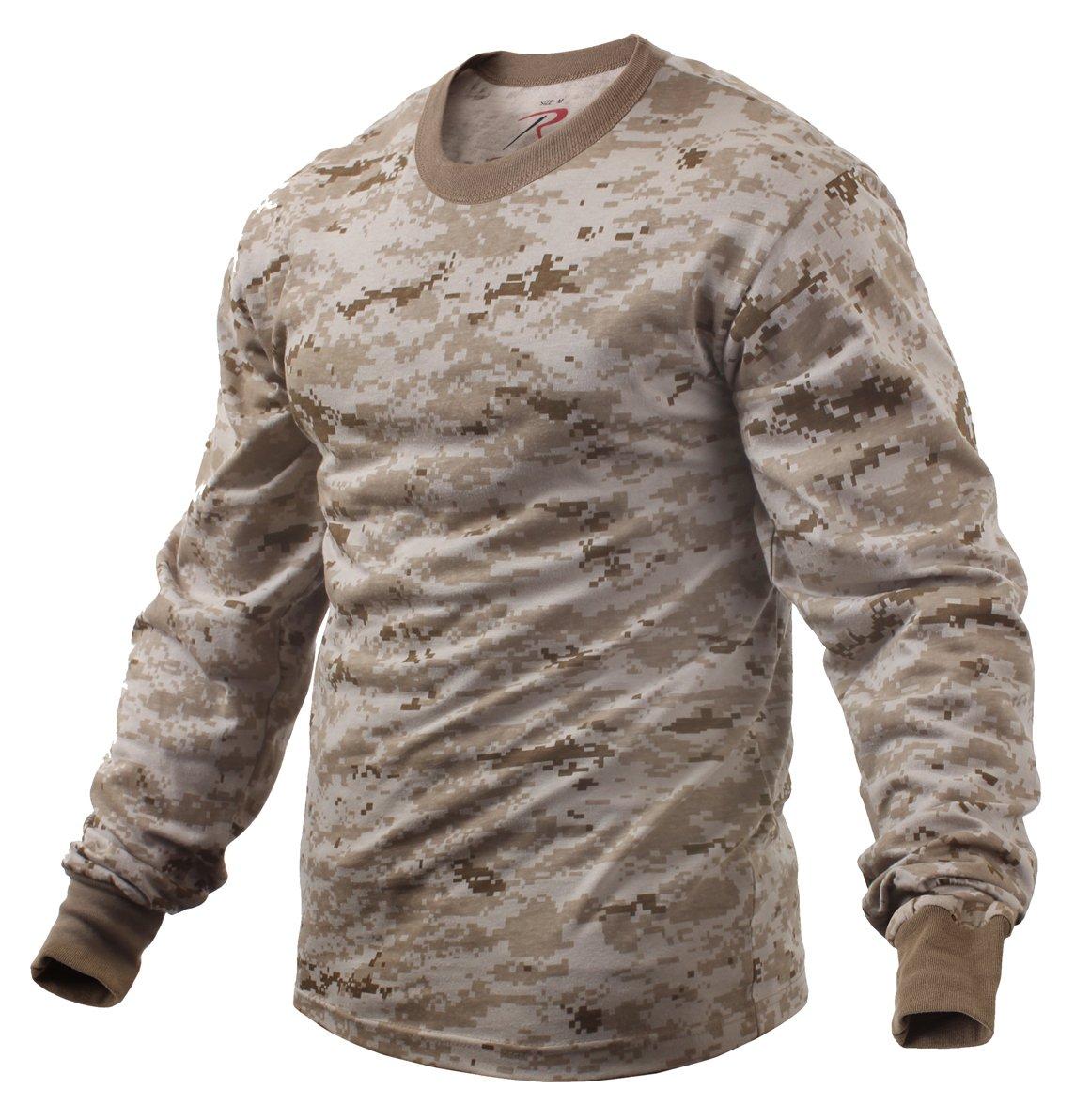 Rothco Long Sleeve T-Shirt, Desert Digital, Large