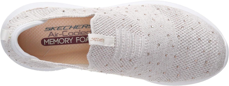 Skechers Damen Ultra Flex - Thrive Up Slip On Sneaker, Bianco Weiß (White Rose Gold Wtrg)