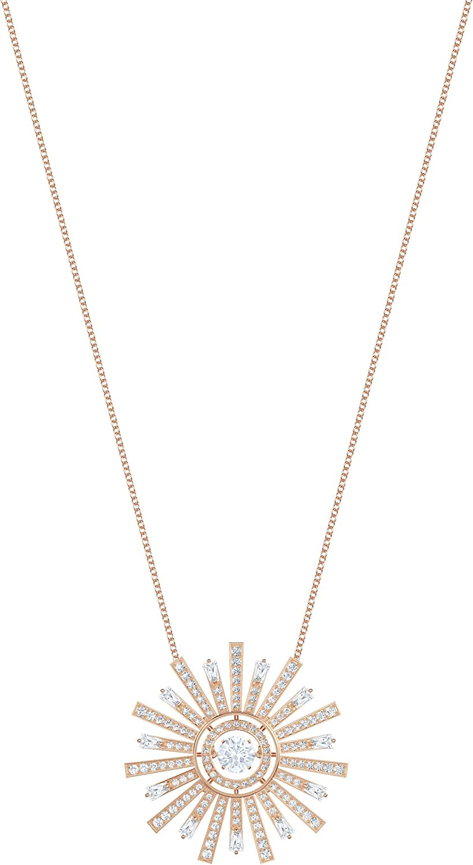 SWAROVSKI Women's Sunshine Necklace, White, Rose-gold tone plated
