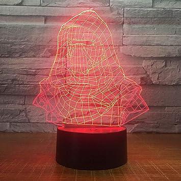 Darth Vader Casco luz Nocturna ilusión electrónica Color lámpara ...