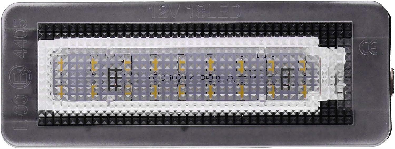 Vinstar /Éclairage de Plaque min/éralogique /à LED certifi/é E Can-Bus 18 LED par Module 6000 K pour Smart Fortwo Tous Les mod/èles Correspondants dans la Description du Produit