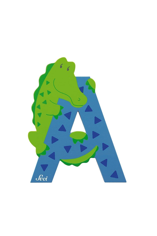 Trudi 81601 - Sevi Tierbuchstabe Alligator A hellblau 81601 C