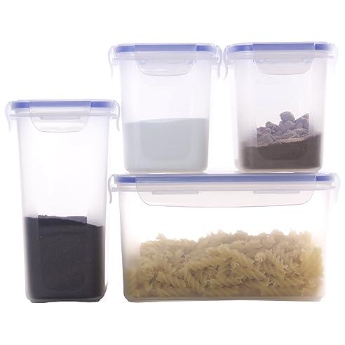 Hausfelder Vorratsdosen Frischhaltedosen Vorratsbehälter Set 4Plopu0026Fresh |  Luftdicht, Wasserdicht Und BPA Frei | Dosen