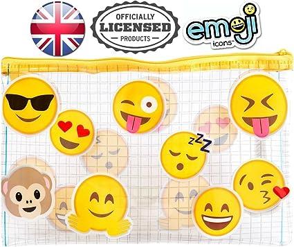 Emoji 2 cara PVC cremallera Estuche Transparente/Claro: Amazon.es: Oficina y papelería