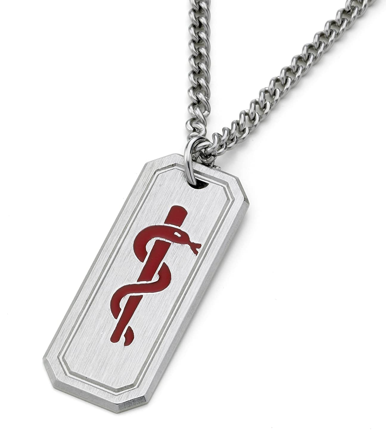 Warfarin user medi tag medical id alert pendant necklace warfarin user medi tag medical id alert pendant necklace stainless steel amazon health personal care mozeypictures Choice Image