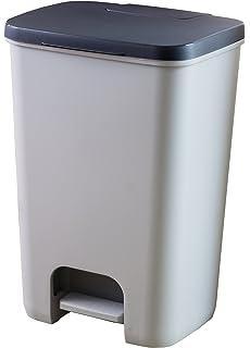 Curver, 225360, Cubo De Basura Essentials, Cuerpo Gris / Tapa Antracita, 30,3 x 29,4 x 42,8 cm: Amazon.es: Hogar