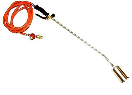 Three Head Torch Kit 600mm Long Arm Propane Gas Torch Burner 5m Hose and Regulator