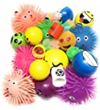 12 Pack +1 bonus ! Stress Relief Balls and Puffer Squeeze Toys (Value Assortment) + Bonus Coil Spring Toy by Bottles N Bags